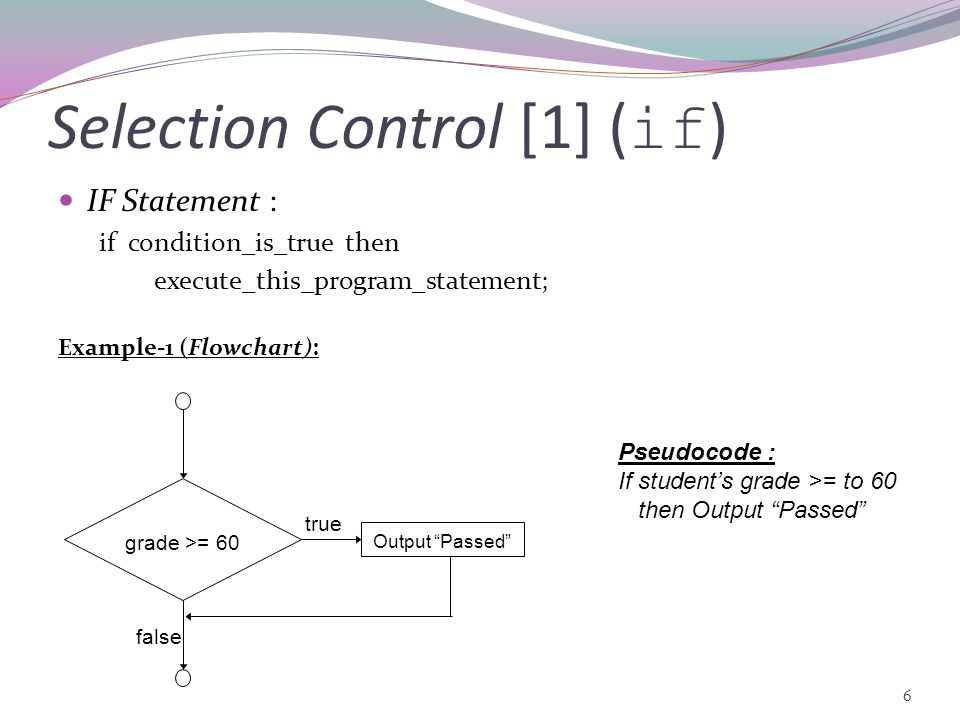 Selection Control [1] (if)